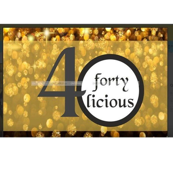 Untumble Fortylicious Poster 40th Birthday Gift Ideas Men