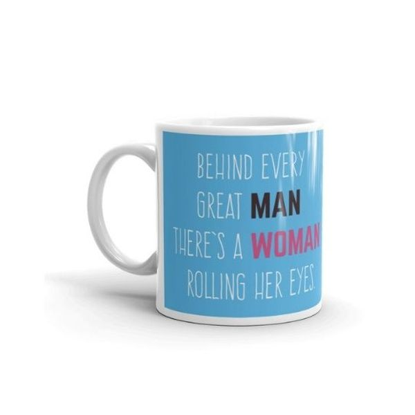 Privy Express Funny Behind Every Great Man Marriage Anniversary Coffee Mug   Anniversary Gift for Husband 40th Birthday Gift Ideas Men