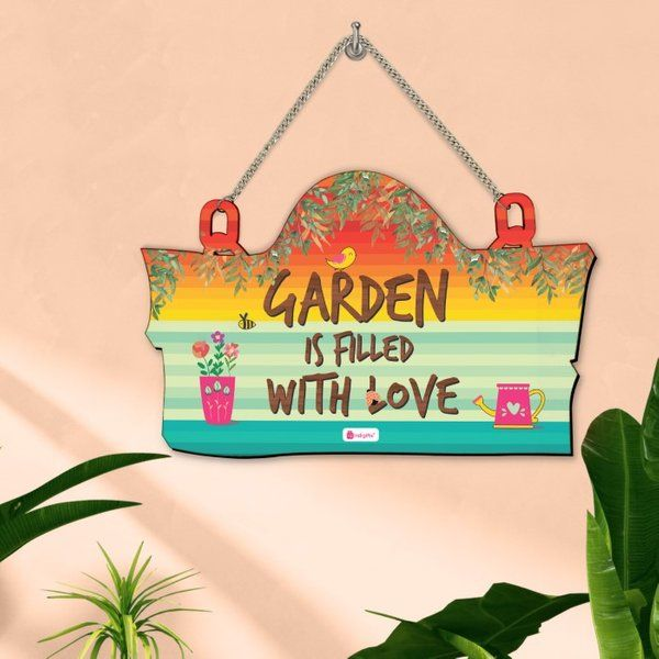 Indigifts Garden Is Filled with Love Wall Hanging Gifts For 40 Year Old Woman