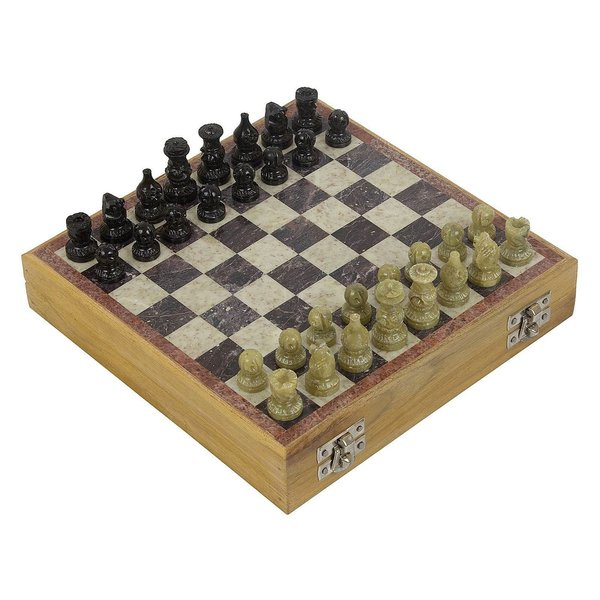 FineCraftIndia Handcrafted Chess Board Game with Wooden Base Gift Ideas For 17 Year Old Boy