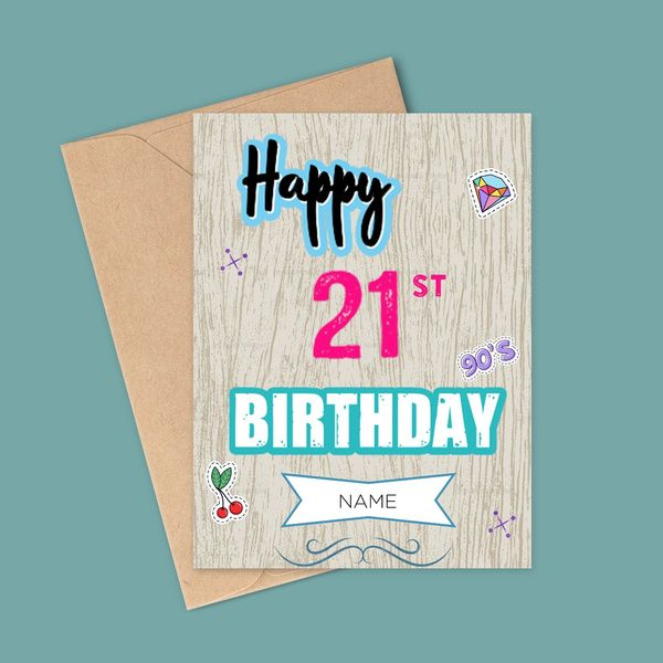 Privy Express Happy 21st Birthday Name Customized Greeting Card Gifts For Men Under 300