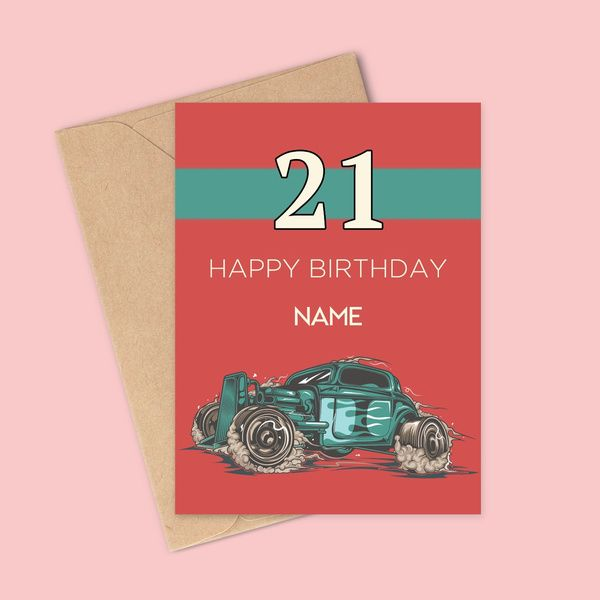 Privy Express Happy 21st Birthday Personalized Name Greeting Card For Boys 21st Birthday Gift Ideas
