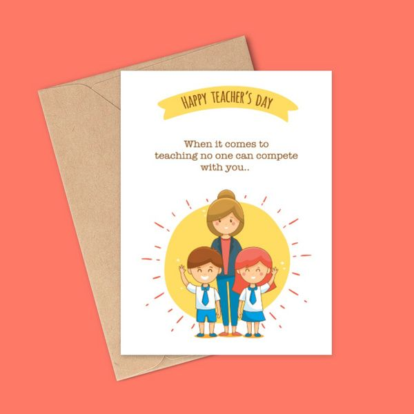 Privy Express Happy Teachers Day Card Happy Teachers Day Greeting Card