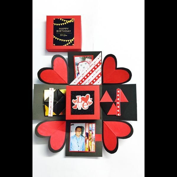 Privy Express Heart Explosion Box  Explosion Gift Box