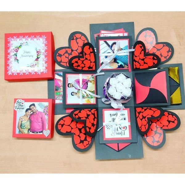 Privy Express Heart Explosion Box with Chocolate  Anniversary Gift Ideas For Mom And Dad