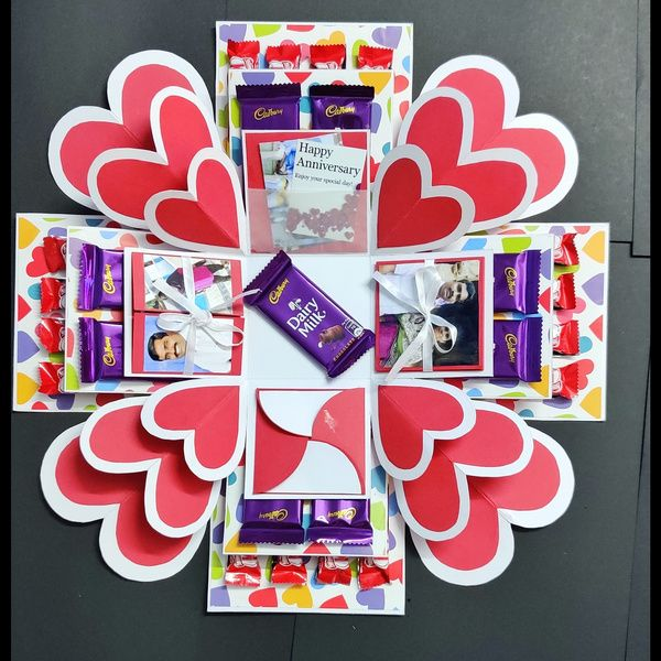 Privy Express Heart Explosion Box with Chocolates Explosion Gift Box
