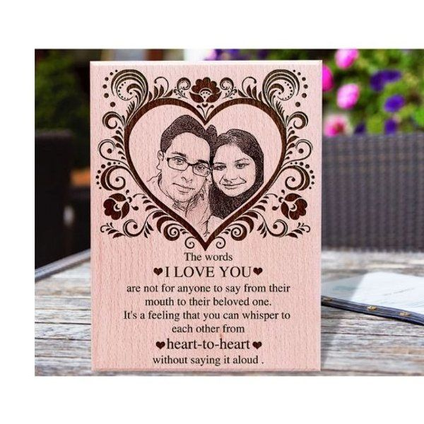 Incredible Gifts Heart for Life Valentines Day Personalized Gift Large Size  Wedding Anniversary Photo Frames
