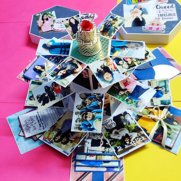 Privy Express Hexagon Tower Explosion Box Explosion Gift Box