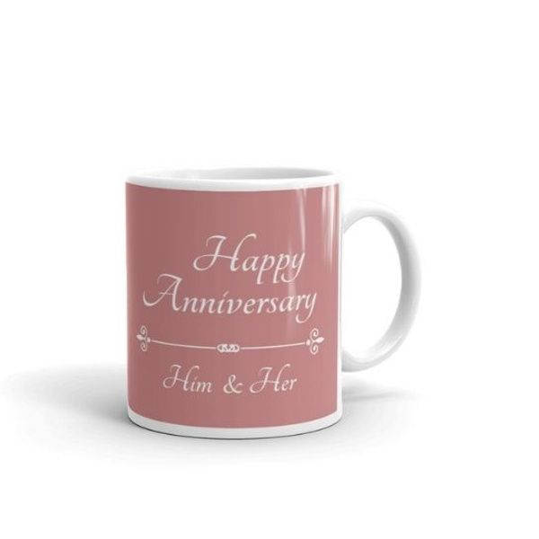 Privy Express Him & Her Name & Photo Personalized Happy Marriage Anniversary Coffee Mug 5th Wedding Anniversary