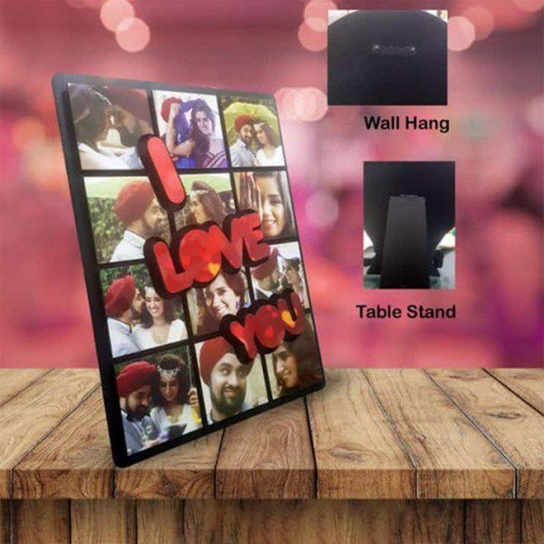 Waah Craft I Love You Personalized Photos Collage Frame Collage Photo Frames