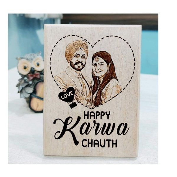 Incredible Gifts Karwa chauth Gift for Couples Special Photo Frames Wooden Photo Frames