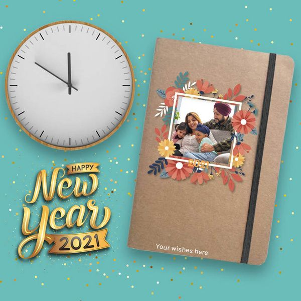 Privy Express Khaki Eco Friendly Personalised New Year Gift Journal Birthday Gifts Under 500