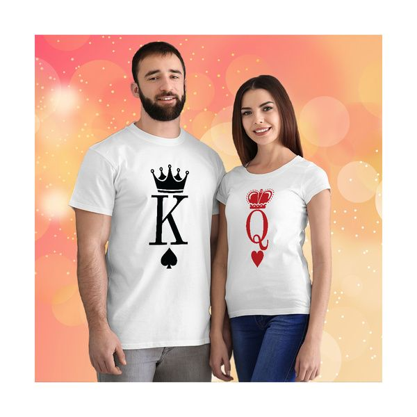 Privy Express King and Queen Couple T-shirt Outfit | Cotton | Crew Round Neck Couple T Shirts