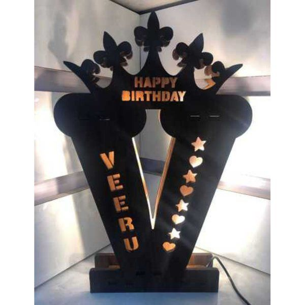 Waah Craft Letter V - Name Initial Personalized LED Lamp Gift Ideas For 17 Year Old Boy