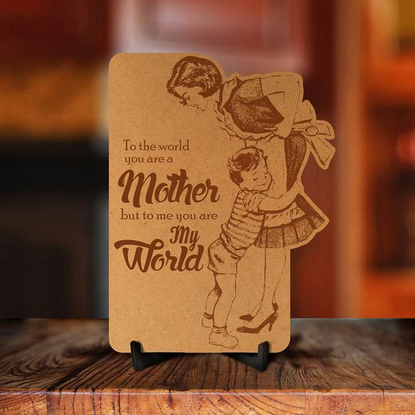 Privy Express Mother My World Engraved Photo Frame Wooden Photo Frames