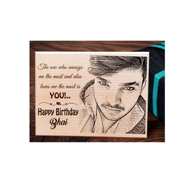 Incredible Gifts Personalized Engraved Wooden Frame with Photo Gifts for Brother Birthday Gift Ideas For Brother In Law