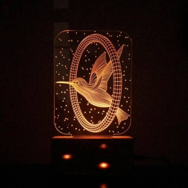 Dezains Personalized LED Night Lamp - Bird Flying Expensive Gifts For Girlfriend