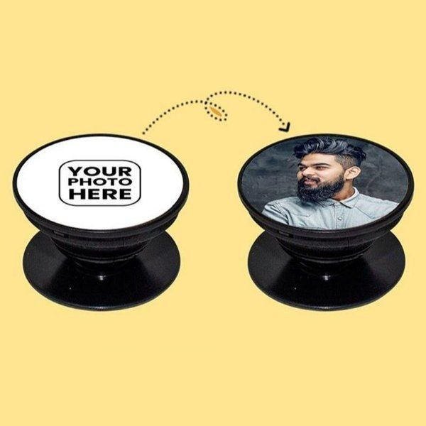 Waah Craft Personalized Photo Pop Socket Gifts For Men Under 300