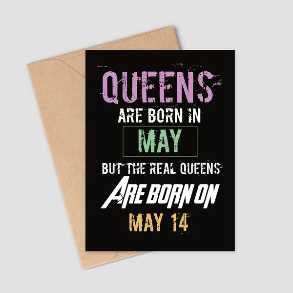 Privy Express Personalized Queen's Birthday May Month Greeting Card with Date Birthday Cards For Girls