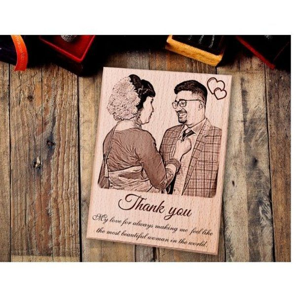 Incredible Gifts Personalized Wooden Plaque Thankyou Gift for Wife Anniversary Gift Ideas For Mom And Dad