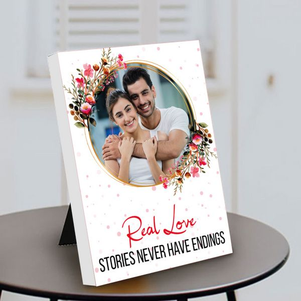 Privy Express Real Love Couple Photo Personalized Anniversary Special Table Photo Frame Photo Frames