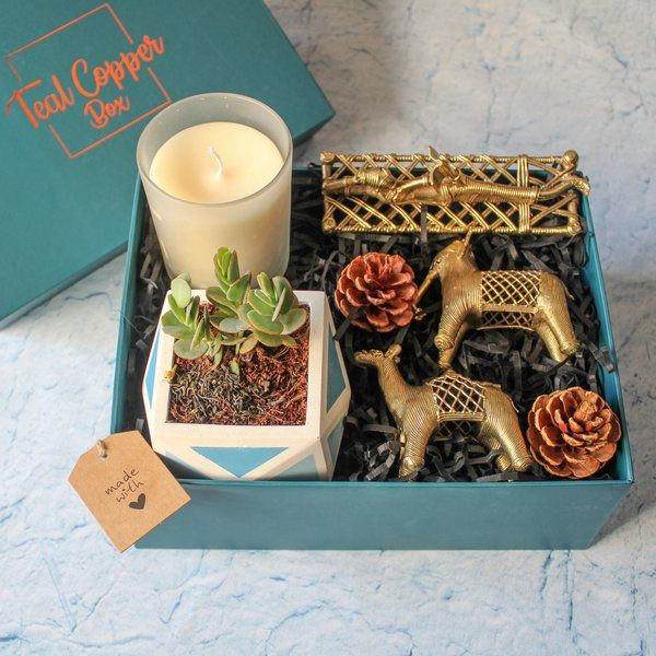 Teal Copper Box The Beauty in the Box Gifts For 40 Year Old Woman