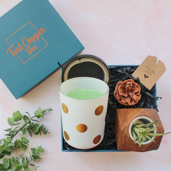Teal Copper Box The Magic in the Air Box Rakhi Gifts For Sister