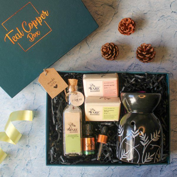 Teal Copper Box The Time and SPA-ce Box Gifts For 40 Year Old Woman