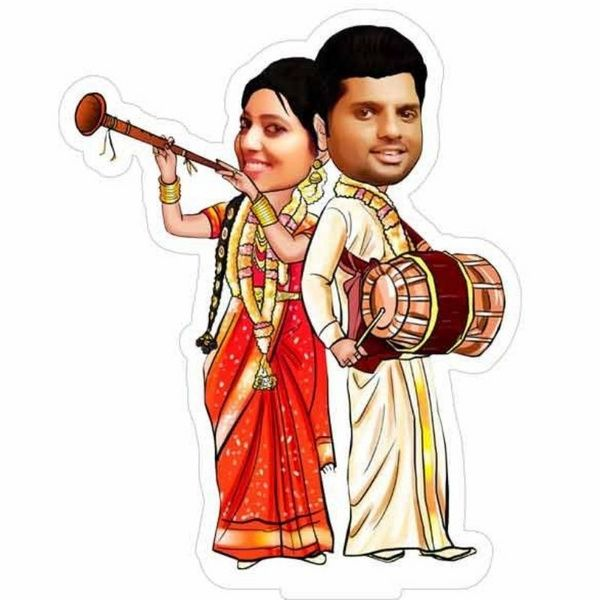 Privy Express Traditionally Getting Hitched - Wedding Special Caricature  marriage Gift Ideas