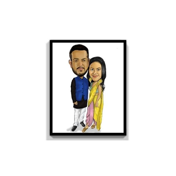 Privy Express We Are Together Forever Digital Color Personalized Caricature for 2 Persons Personalize Caricature Gifts