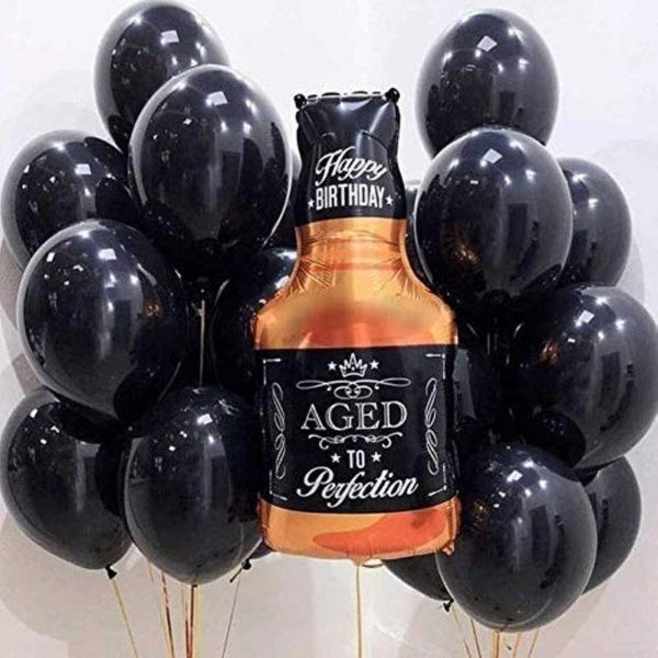 CherishX Whiskey Foil Balloon for Party Decorations Gifts For Men Under 300