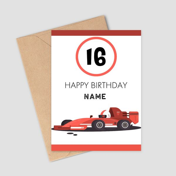 Privy Express Wishing 16th Birthday For Boys Customized Name Greeting Card Birthday Cards For Boys