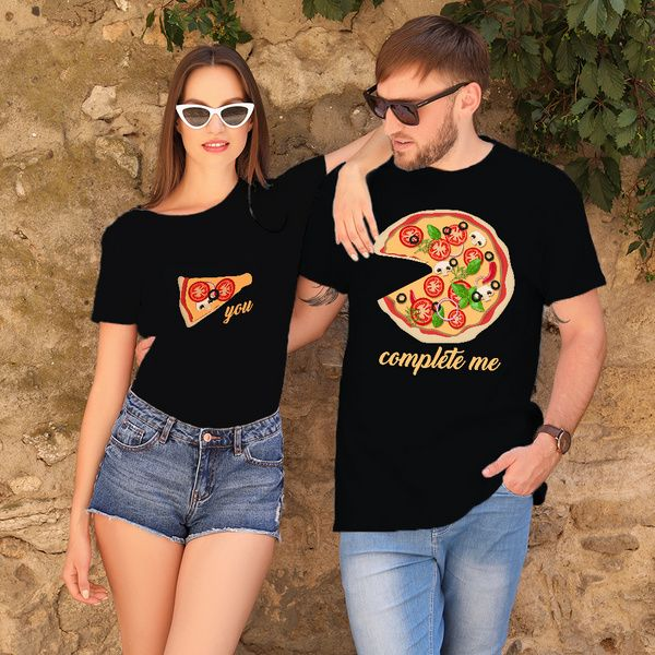 Privy Express You Complete Me Quirky Printed Cotton Crew Round Neck Couple T-shirts Couple T Shirts