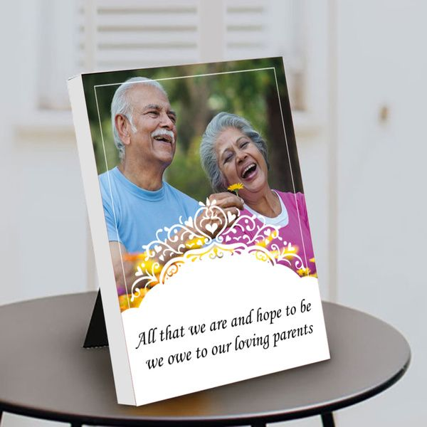 Privy Express All That We are and Hope to be, We Owe to Our Loving Parents Table Photo Frame   Parents Day Gift Gifts For Grandmother