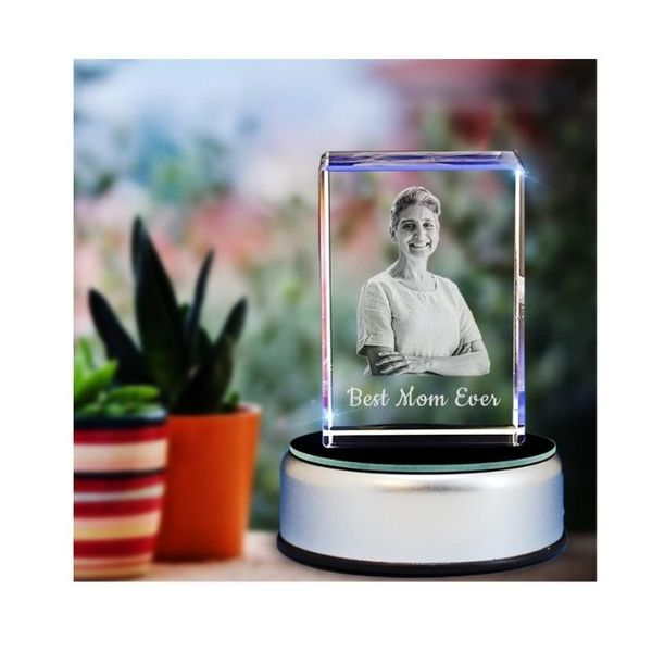 Privy Express Best Mom Ever Photo Personalized Rectangular Crystal   Gift for Moms Birthday Gift Ideas For Mom