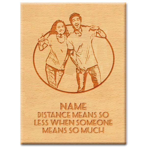Privy Express Best Wishes On Friendship Day Customized Name & Photo Wood Engraved Best Friend Photo Frame Ideas