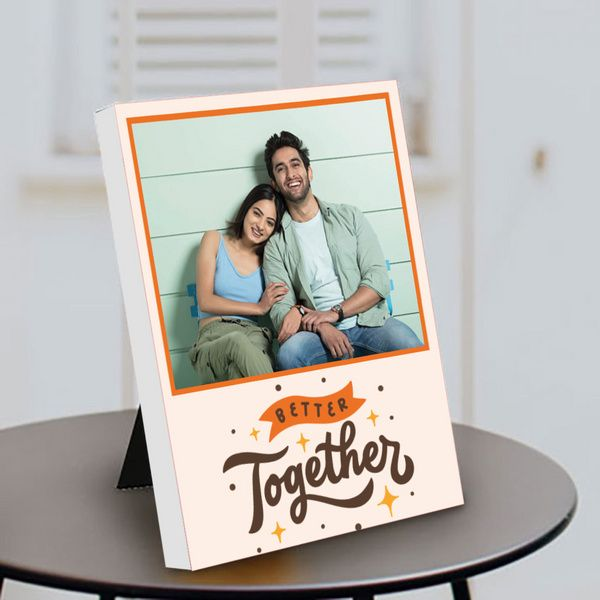 Privy Express Better Together Cute Couple Photo Personalized Anniversary Table Photo Frame Gift Ideas For Newly Married Couple
