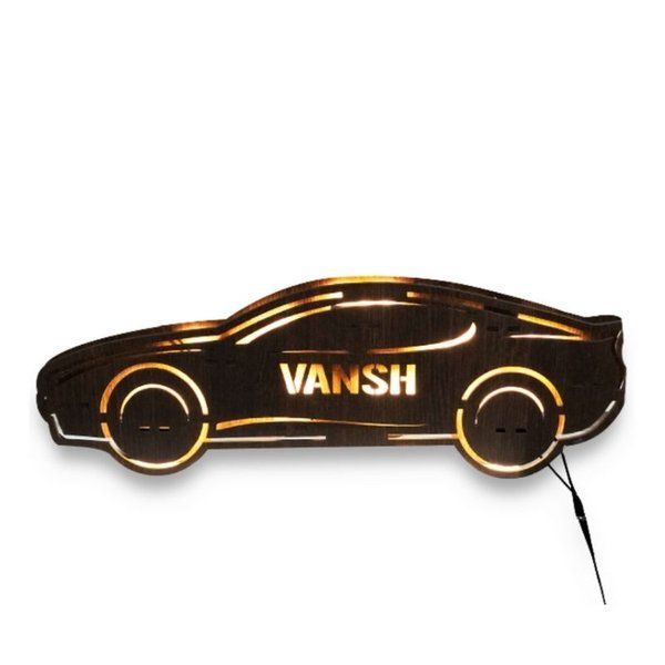 Waah Craft Car Table Top Lamp with Name 13th Birthday Gifts