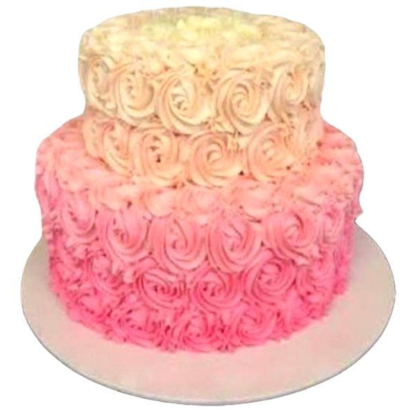 CakeZone Colorful Step Roses Premium Flavour Cake Bridal Shower Bride To Be Cake