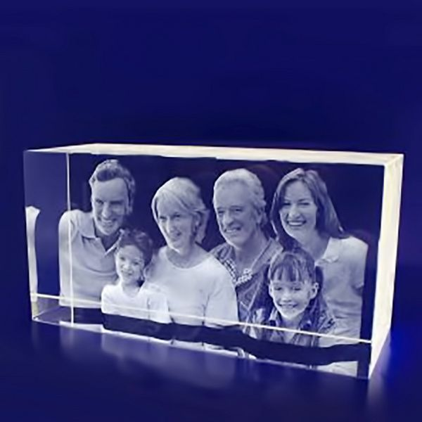 Privy Express Extended Family with GrandParents Customized Big 3D Crystal  Gifts For Grandfather