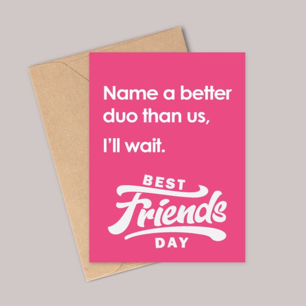 Privy Express Funny Best Friends Day Greeting Card Friendship Day Card Ideas
