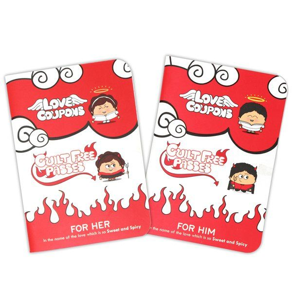 Indigifts Guilt Free Passes and Wildcards Set of 2 Books for Him and Her His And Hers Gifts