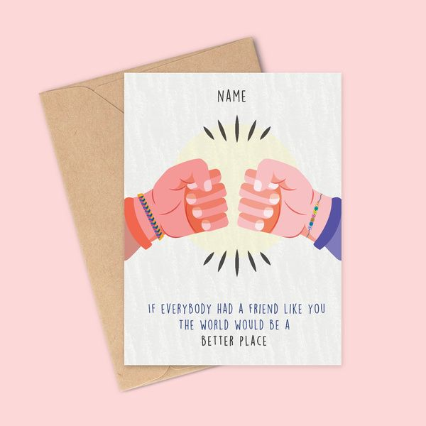 Privy Express Happy Friendship Day Personalized Name Greeting Card Friendship Day Card Ideas