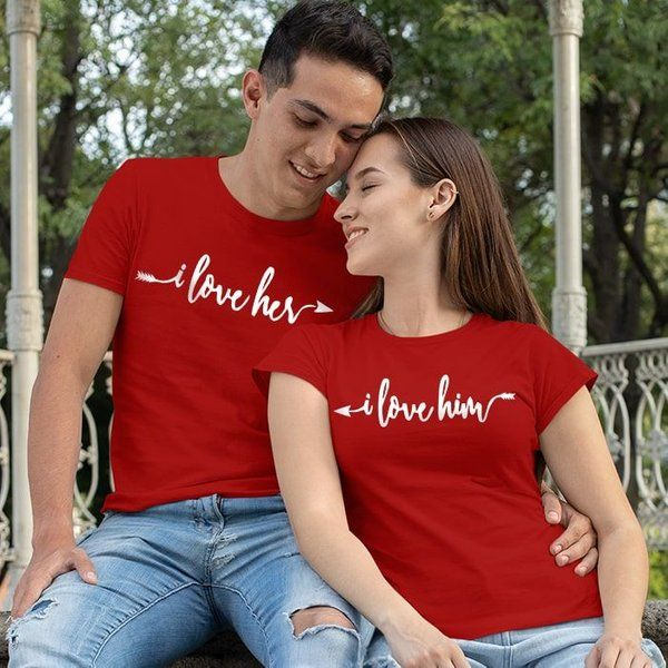 Be Young I Love Him/Her Couple T-Shirts His And Hers Gifts