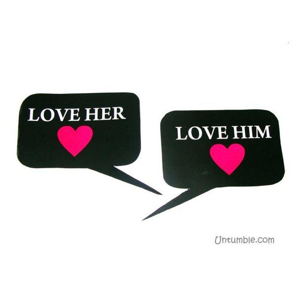 Untumble Love Him - Love Her Photo Prop His And Hers Gifts