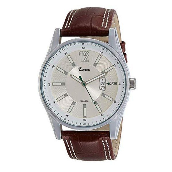zestaindia Men Day/Date Analogue Watch - Brown 18th Birthday Gifts For Boys