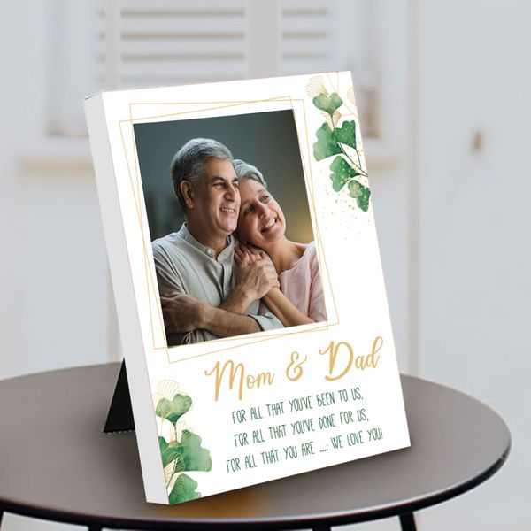 Privy Express Mom & Dad Photo Personalized Parents Day Special Table Photo Frame Birthday Gift Ideas For Mom