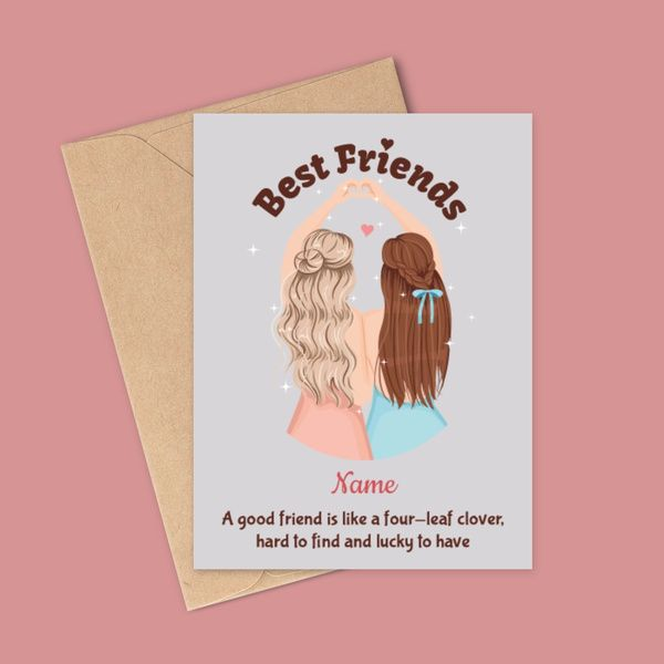 Privy Express National Best Friend Day Name Personalized Greeting Card | Best Friend Birthday Card Friendship Day Card Ideas