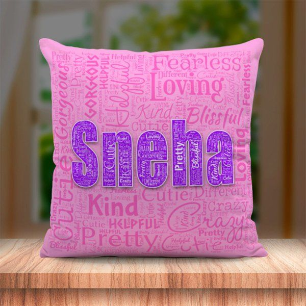 Waah Craft Personalized Name Cushion 18th Birthday Gifts For Girls