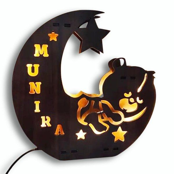 Waah Craft Personalized Panda Name Board with Lights Gifts For 17 Year Old Girls